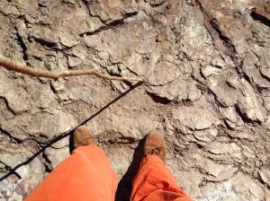 Edge of cliff.  No big deal.
