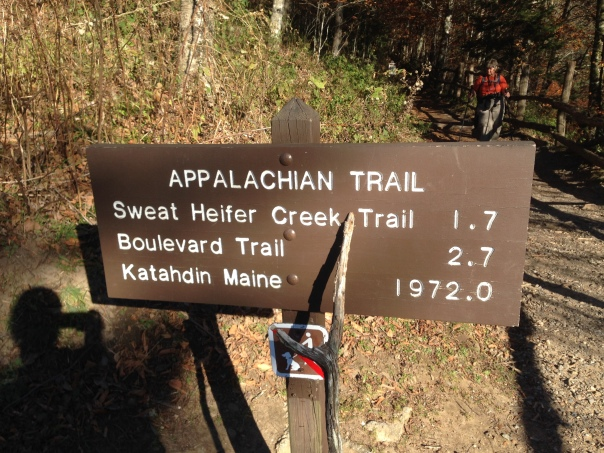 1972.0 miles to the end of the Appalachian Trail from where our hike ended.  I'll leave it at what we did for this year.  I can't understand how people's joints handle the AT.